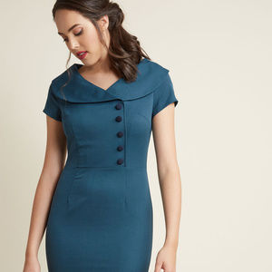 MODCLOTH Pin up Vintage Retro Dress Blue